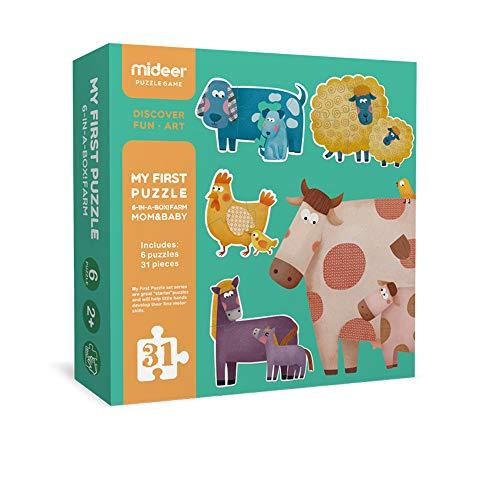 ジグソーパズル 子供向け1歳 2歳 3歳 どうぶつ アニマル 幼児 知育玩具 パズル Mideer ミディア マム&ベビーパズル