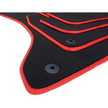Velours Automatten Premium Qualit/ät Stoffmatten 4-teilig schwarz Drehknebel oval kfzpremiumteile24 Fu/ßmatten