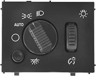 Fits Chevy Silverado Headlight Switch fits GMC Sierra 2003 2004 2005 2006 2007 19381535 D1595G Headlamp Dimmer