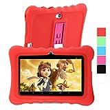GBtiger L701 Tablet PC de 7 Pulgadas para Niños (Android 4.4, Quad Core 1.3GHz, 512MB RAM + 8GB ROM, Resolución HD de1024 x 600, WiFi, Bluetooth) color Blanco/Rojo