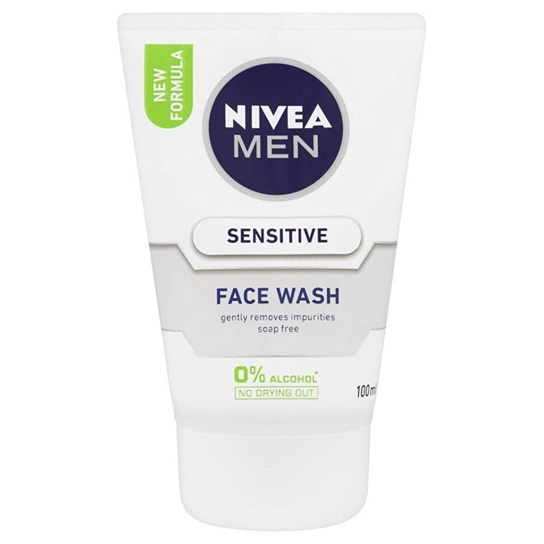 退化するスタック奇跡Nivea Men Sensitive Face Wash (100ml)