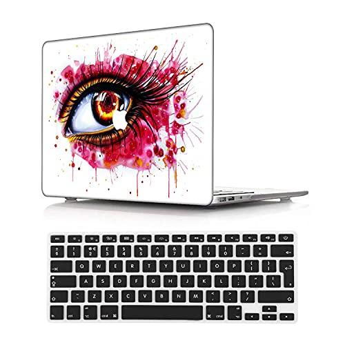 NEWCENT MacBook Pro 13' Funda,Plástico Ultra Delgado Ligero Cáscara Cubierta EU Teclado Cubierta para MacBook Pro 13 Pulgadas con Touch Bar Touch ID(Modelo:A1708/A1706/A1989/A2159),Retrato 63