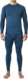 LAPASA Sports Thermal Underwear Set for Men, Long Johns Quick Dry Base Layer Top & Bottom Winter Gear for Skiing, Running...