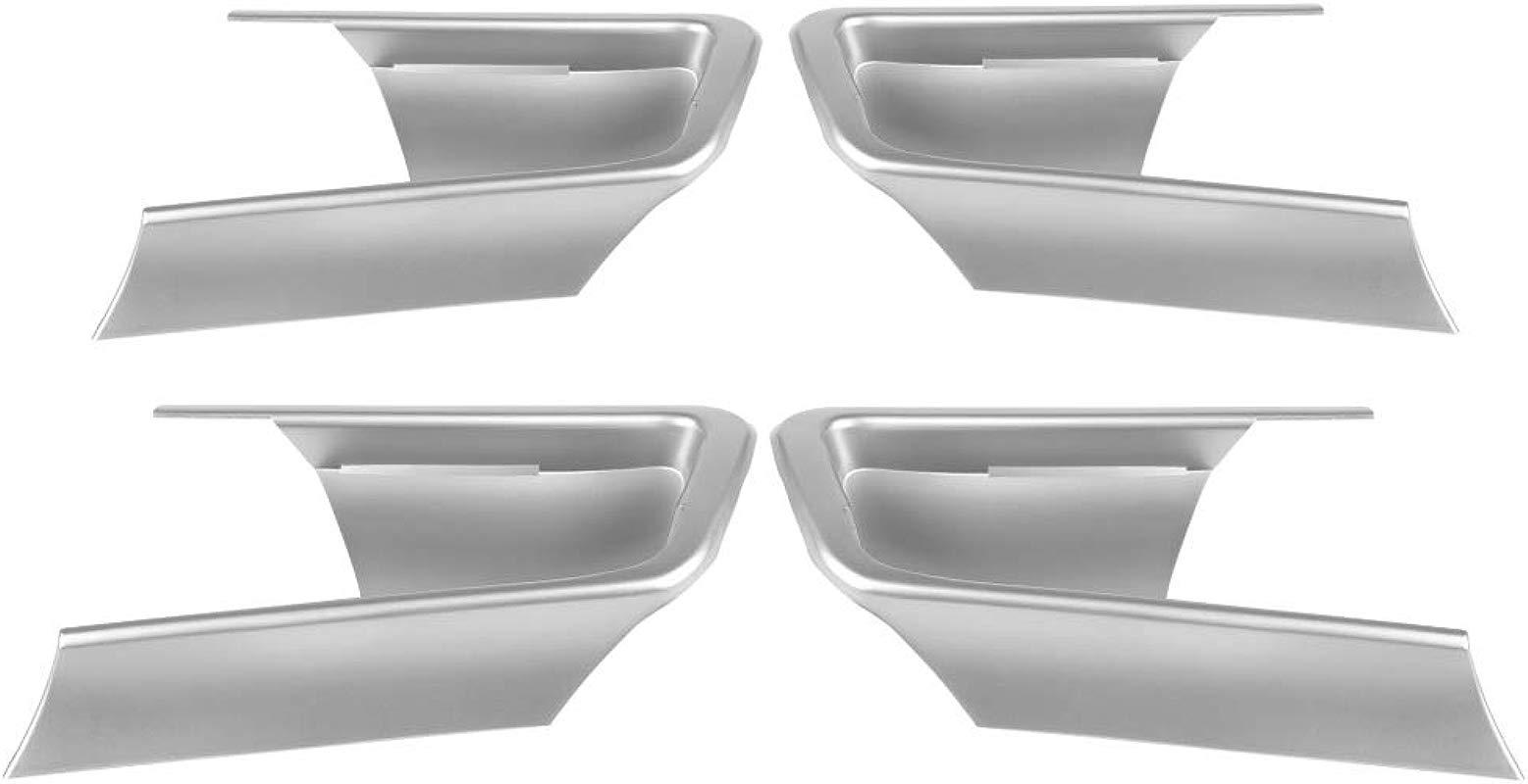Yunnyp Car Interior Door Bowl Cover Set 4Pcs Car Chromium Electroplating Door Bowl Cover Trim For J150 14 18
