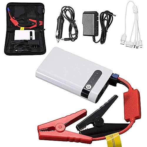 12000mAh Arrancador de Coche Booster, 12v Auto Emergency Booster, con Puerto USB/Cable/Linterna LED, para Viajes, Camping, Emergencia,20000mah