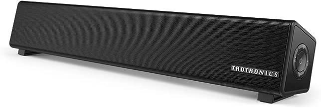 TaoTronics Bluetooth 5.0 Computer Speaker, Wired/Wireless Computer Sound Bar, Mini Soundbar Speaker for PC/Cellphone/Tablets/Desktop, Aux Connection