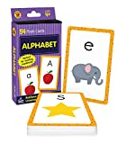 Carson Dellosa Alphabet Flash Cards—Double-Sided, Uppercase and Lowercase Letter and Sound Recognition With Illustrations, Early Reading Comprehension Practice Set (54 pc)