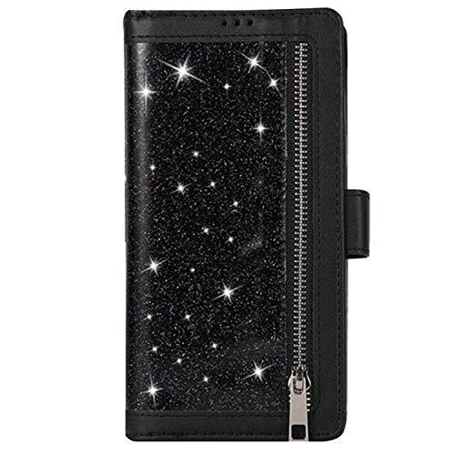 Galaxy S21 Ultra 5G ケース 手帳型 ジッパー ポケット付き 手帳ケース 上質なPUレザー スタンド機能 カード収納 レザー 手帳型ケース サムスン ギャラクシー S21ウルトラ おしゃれ スマホケース[Galaxy S21 Ultra