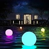 Lampada a sfera per piscina galleggiante da esterno a 16 colori con telecomando, decorazione per piscina coperta da esterno impermeabile IP67,regali per gli amici dei bambini (6 pcs)