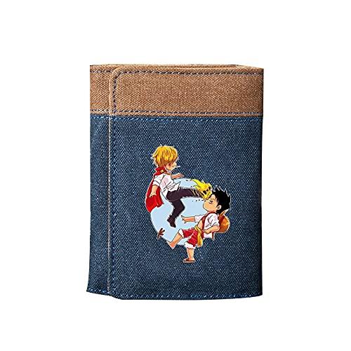 ZZYYII EIN STÜCK, Anime-Multi-Card-Brieftasche, Tri-Fach-Multifunktionsbranche, super große Kapazität, wasserdichte und verschleißfeste Leinwand-Brieftasche, Anime-Fan...