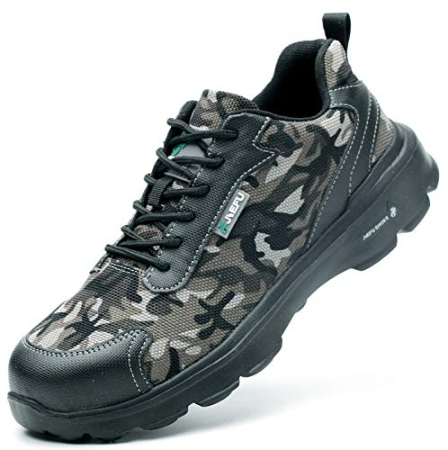 [EVIICC] 安全靴 作業靴 地下足袋 メンズ レディース 耐磨耗 衝撃吸収 つま先保護 スニーカー 登山靴 防滑 通気性 軽量