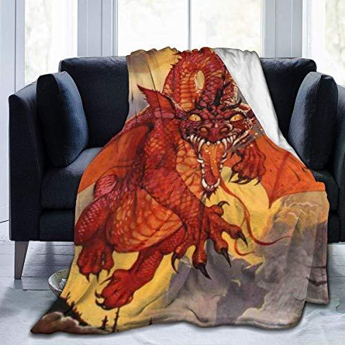 JONINOT Warm Lightweight Fleece Blanket Cozy Lord Rings Ultra-Soft Flannel Throw Blanket L127cm x W102cm/40 x50