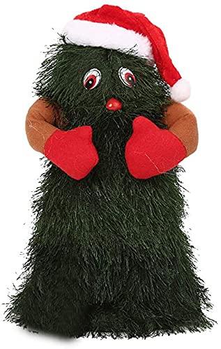APcjerp Toy Danza Giocattolo Il Babbo Natale Elettrico Natale Giocattolo Musicale Rotante for i Bambini di Natale Decorazioni di Regalo Divertente e di Festa 28cm Hslywan