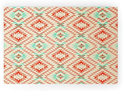 """Society6 57216-wcmatl Pattern State Tile Tribe Southwest Welcome Mat, 36"""" x 24"""", Red"""