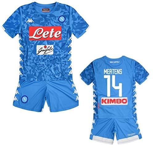 Kappa Italia SSC Neapel Kinder-Kinder-Outfit Mertens 2018-19, hellblau, JL 10 anni 140CM