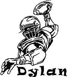 BailongXiao Sin Marco-Adhesivo de Pared de Jugador de fútbol con Nombre Personalizado para Dormitorio de Chicos Adolescentes Ame