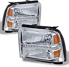 05-07 F259 F350 F450 Super Duty Driving Head Lights Lamps Assembly Smoked Lens