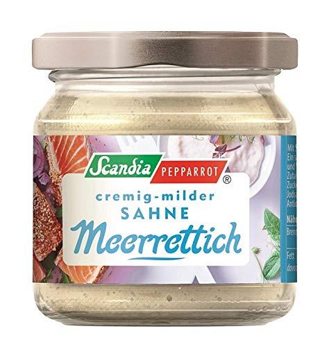 Scandia - Pepparrot cremig- milder Sahne Meerrettich, Glas, 190g