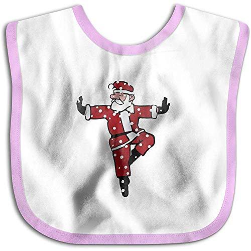 Bavoirs Baby Bandana Drool, draps unisexes pour la dentition, coton biologique (Dancing Santa Pink)