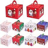 Cajas de Dulces Navideños Cajas de Regalo Navidad para Regalo de Navidad Cinco Estilos para el Día de la Madre Navidad Cumpleaños Bodas Festiva para Galletas Dulces Tartas Cajas Decorativas 10 Piezas
