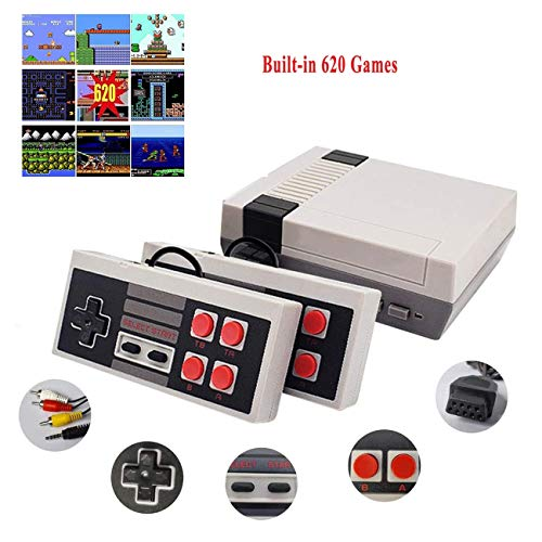 JAOK Classic Handheld Game Console, Built-In 620 Classic Games And 2X 4 Nes Classic Button...