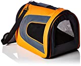 Pet Magasin Soft-Sided Pet Travel Carrier - [Airline TSA Approved] - Portable Traveling Kennel for, Cats, Small Dogs & Puppies (Large, Orange), Large (18'' x 11'' x 10'') (OrangeCarrier001)