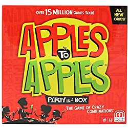 Apples to Apples card game with red and green box