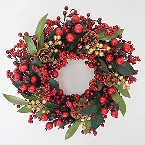 XIN CHANG LWH La Decoración De Navidad Guirnalda, Corona De Navidad Que Cuelga De Acción De Gracias Día Al Aire Libre Decoraciones De Interior De La Navidad(Size:60CM)