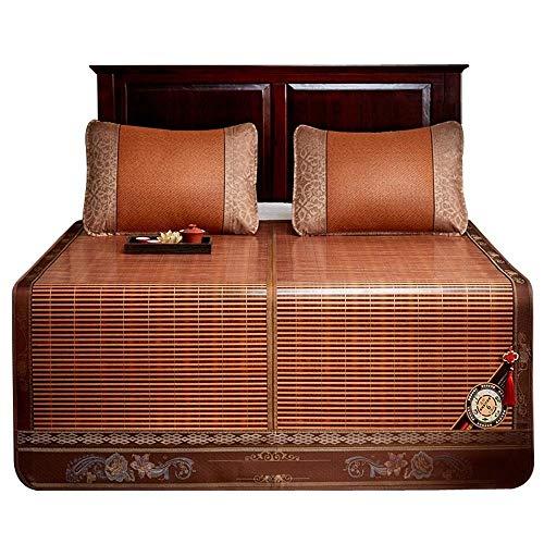 JGWJJ Carbonized Bamboo Summer Sleeping Mat Kühlmatratze Topper Pad (Carbonized, King) (größe : 1.5 * 1.95M)