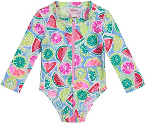 Tommy Bahama baby girls Uv Protection 1 piece Swimsuit Bathing Suit Rash Guard Set Watermelon product image