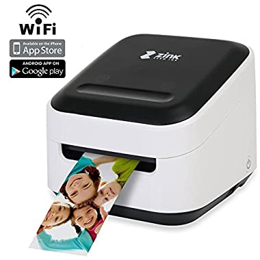 Zink Mobile Photo Printer Multifunction Wireless Color Label instagram Portable Digital Photo Booth Printer Works With Mobile Phone iPad iPhone Tablets Art Printer Mailing Address Label & FREE App 4.5 x 10.2 x 10.2 inches