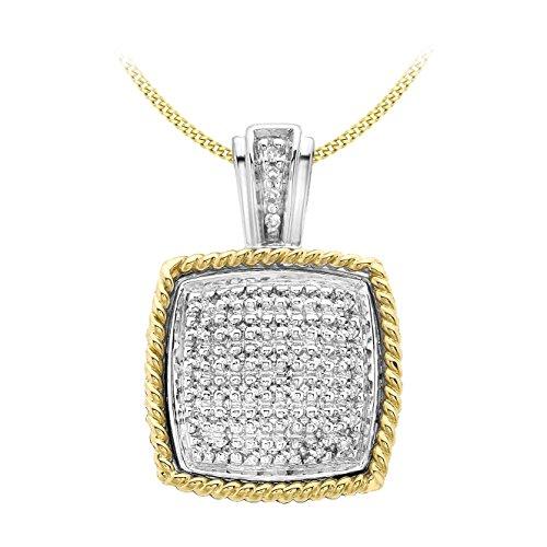 Carissima Gold Collar con colgante cojin de mujer con oro bicolor de 9K (375/1000), diamante, 46 cm