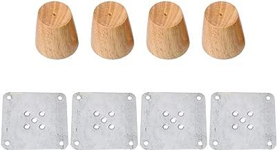 12//15//18//20//30/cm de hauteur table Glvanc Pieds de meuble solides en bois de ch/êne avec plaque de fer Pour canap/é armoire Lot de 4/