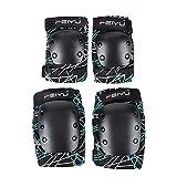 Monopatinaje Extremo Protector Engranaje Patines del Patinaje sobre Ruedas for Adultos esquí de protección Gear Set de niños Cojines de Codo y Rodilleras Traje de protección para monopatín