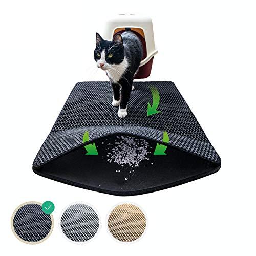 riijk Katzenklo Matte 75x58 cm | XXL Matte Katzentoilette | perfekte Katzenstreu Matte für die saubereWohnung |KatzenmatteKatzenklo
