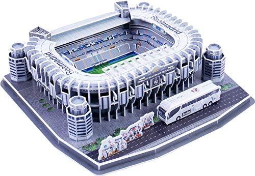 Auveach Puzzle Tridimensionale 3D Famoso in Tutto Il Mondo Campo da Calcio 2019 Puzzle per Bambini Ragazzi Giocattolo con Inserto di Incantesimo Fai-da-Te (Stadio Santiago Bernabéu(Spagna))