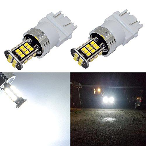 Alla Lighting Super Bright 3156 3157 LED Lights Bulbs 2000 Lumens 3156 3457 4157 3157 LED Bulb 3020 30-SMD 6000K Xenon White 3156 3157 LED Bulbs Cars Trucks Turn Signal, Reverse, Brake Stop Tail Light