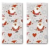 20 Taschentücher Spaßige Weihnachtsmänner als Geschenk für Weihnachten