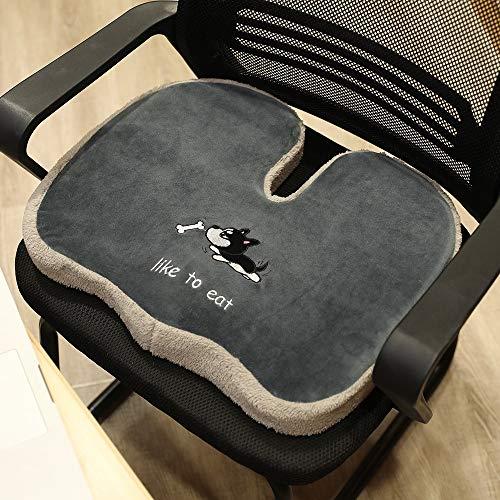 Nbvcxz Cartoon best bottom cushion memory foam seat cushion office student plush thick cushion car seat cushion (Color : 1, Size : 38 * 48cm)