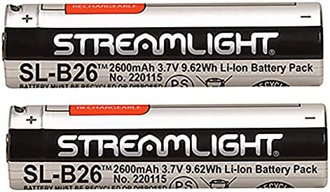 Streamlight 22104 SL B26 USB Rechargable Lithium Ion Battery 3 7V 2600mAh for Streamlight X product image