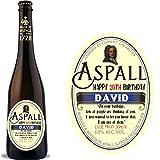 Etiqueta personalizada para botella de vino de sidra Aspall para cumpleaños, Navidad, cualquier ocasión