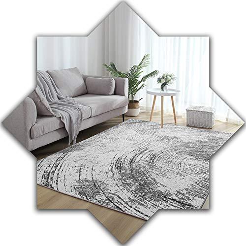 Viviendo Pila de Habitaciones Dormitorio Corto Manta de área de Moderno Estilo Minimalista Gris Antideslizante Interior Muebles Decorativo Alfombra 3.28 (Size : 140x200cm)