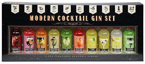 Modern Gourmet Foods - Gin & Cocktail Mixer Geschenkset - 10 Individuelle Geschmacksrichtungen - Für Gin-Liebhaber