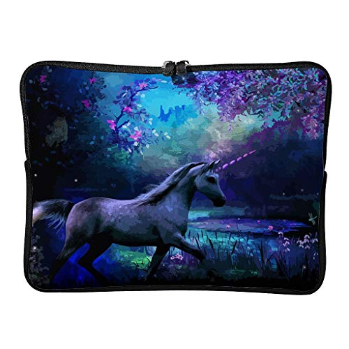 Unicorn Laptop Case Bag Durable Water Resistant Lightweight Multi-Functional Stationery 10-17 Zoll for Office White 17 Zoll
