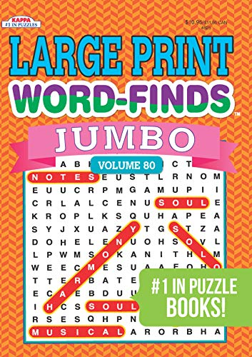 Compare Textbook Prices for Jumbo Large Print Word-Finds Puzzle Book-Word Search Volume 80  ISBN 9781559936873 by Kappa Books Publishers