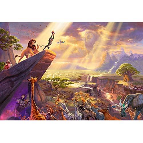 Jqchw Fairy Tales dibujos animados de madera Rompecabezas Puzzle de 1000 piezas Adultos Difícil DIY juguetes rompecabezas animado Rey León Jigsaw Puzzle regalos descompresión Inteligencia Juguetes edu