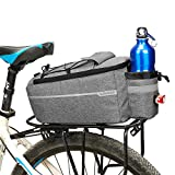 Lixada Insulated Trunk Cooler Bag for Warm or Cold Items,Bicycle Rear Rack Storage Luggage,Reflective MTB Bike Pannier Bag (Gray)