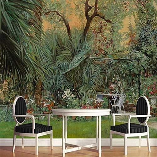 Behang 3D fotobehang aangepaste woonkamer muurschildering Europese Amerikaanse regenwoud jungle plant schilderij achtergrond voor de muur 3D, 250 cm * 175 cm