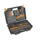 Drill Drive Bit Set Woodworking Drill Bits Kit con estuche de almacenamiento para plástico de metal 246pcs Taladado afilado