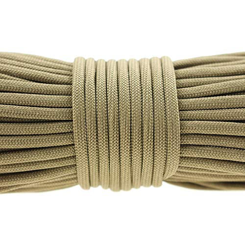 4mm 5//20//100Meter 7-Strand Lanyard Rope Nylon Parachute Cord Survival Outdoor H